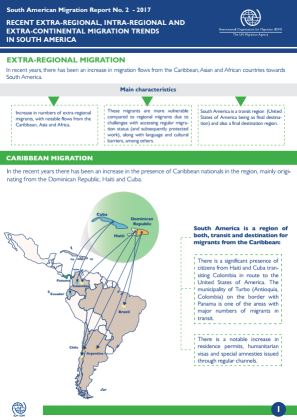 Map Of South America 2017.South America Regional Migration Report 2 Recent Migration