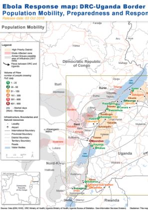 Ebola Response Map: DRC — Uganda Border (3 October 2018 ...